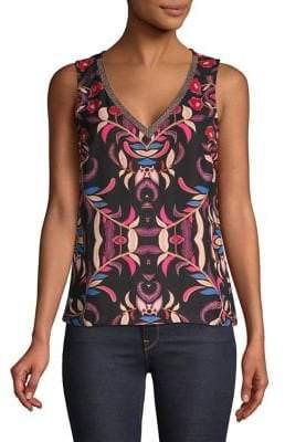 Vero Moda Sleeveless Printed V-Neck Top