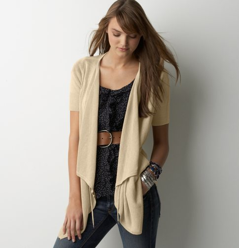 Drawstring Collar Cardigan
