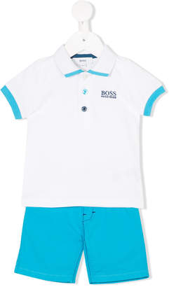 Boss Kids polo shirt trouser set