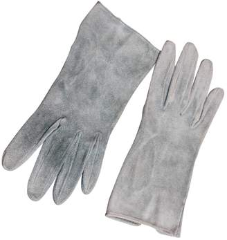 Hermes Blue Suede Gloves