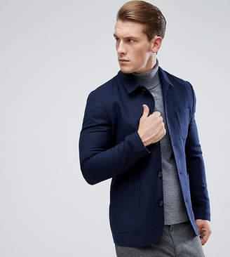 Heart & Dagger Button Through Slim Worker Jacket