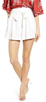 WAYF Pleated Tie Waist Shorts