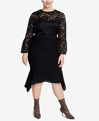 Rachel Roy Trendy Plus Size Lace Top