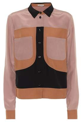 Bottega Veneta Paneled silk blouse