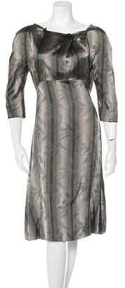 Marni Long Sleeve Empire-Waist Dress