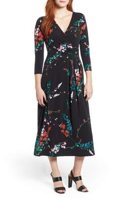 Chaus Wildflower Dream Faux Wrap Dress