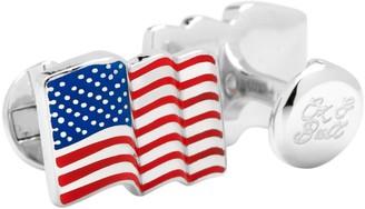 Cufflinks Inc. Cufflinks, Inc. Ox & Bull Trading Co. Waving American Flag Cufflinks