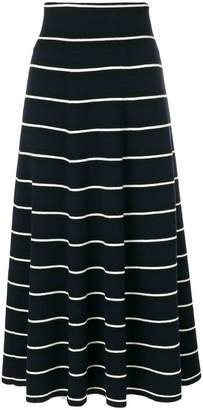 Parker Chinti & multi-stripe flared skirt