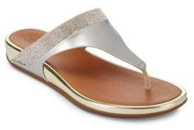 FitFlop Embellished Slip-On Wedge Sandals