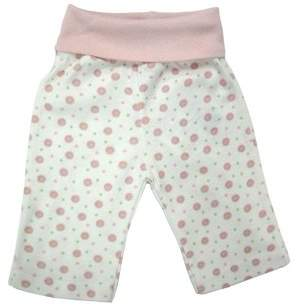 Under the Nile Organic Cotton Rolled Waist Pant - Pink Dot 3-6m