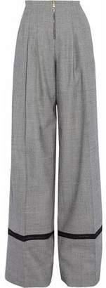 Vionnet Pleated Tweed Wool-Blend Wide Leg Pants