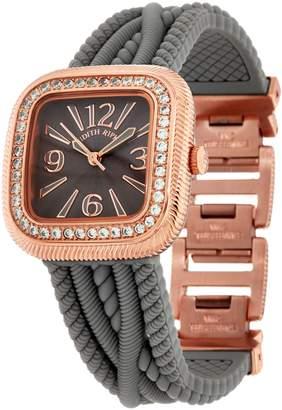 Judith Ripka Silicone Strap Watch