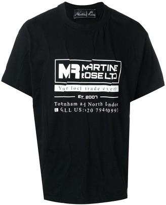 Martine Rose Wobbly print T-shirt