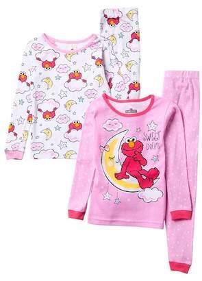 AME Elmo Sweet Dreams Cotton PJ - Set of 2 (Toddler Girls)