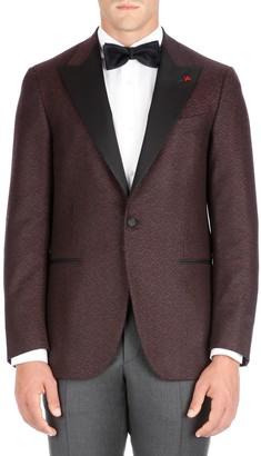 Isaia Peak Lapel Wool Dinner Jacket
