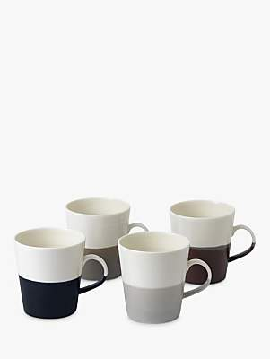 Royal Doulton Coffee Studio Grande Mugs, White/Multi, 500ml, Set of 4