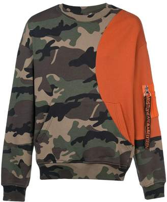 Mostly Heard Rarely Seen Slick camouflage print sweatshirt