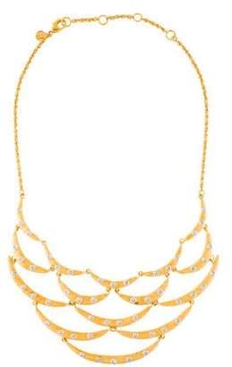 Alexis Bittar Crystal Studded Scalloped Bib Necklace