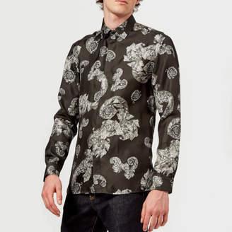 Versace Men's Patterned Long Sleeve Shirt