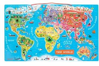 Janod 93-Piece Magnetic World Map