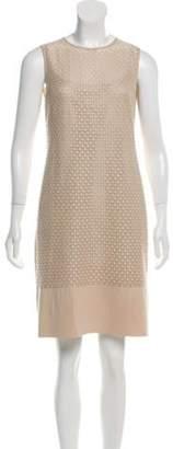 Akris Lace Mini Dress Tan Lace Mini Dress
