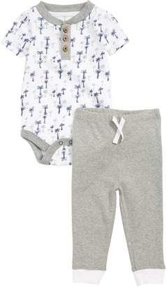 Burt's Bees Baby Breezy Palms Organic Cotton Bodysuit & Pants Set