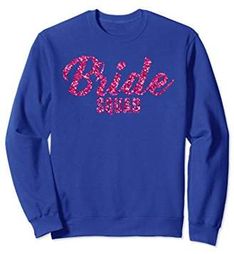 Pink Glittery Effect Bride Squad Sweatshirt