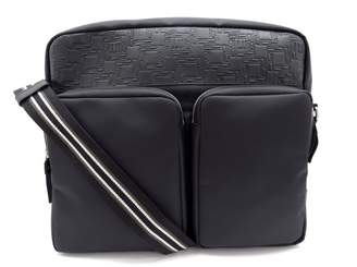 Dunhill Alfred Black Leather Clutch Bag
