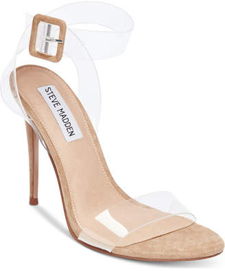 at Macy s · Steve Madden Women s Seeme Lucite Dress Sandals