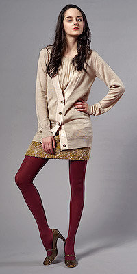 Long Beige Cardigan  by Tara Jarmon