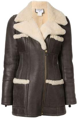 Chanel PRE-OWNED faux shearling jacket