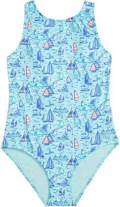 Vineyard Vines Sailboat Sporty One-Piece Swimsuit