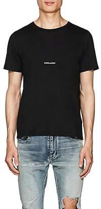 Saint Laurent Men's Logo Cotton T-Shirt - Black