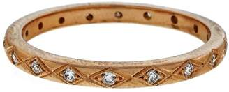 Art Deco 18K Pink Gold with 0.25ct Diamonds Eternity Band Ring Size 6.5