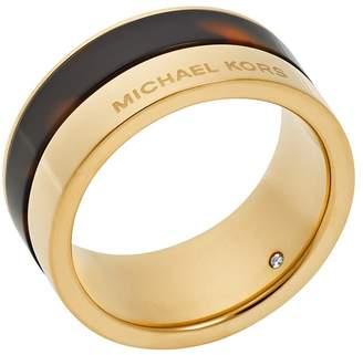 Michael Kors Gold-Tone and Tortoise-Acetate Ring
