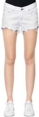 Rag & Bone Rag&bone Low Rise Fringed Hem Denim Shorts