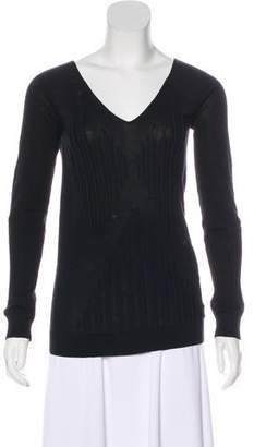 Chanel Long Sleeve V-Neck Top
