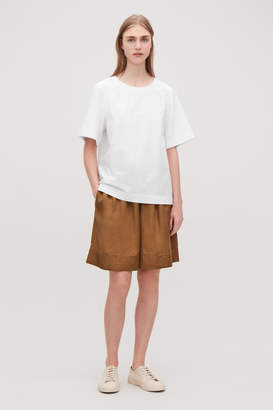 Cos TOP WITH TEXTURED SLEEVES
