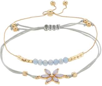 Lauren Conrad Bead & Flower Bracelet Set