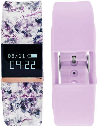 iFitness Pulse Women Floral & Lavender Silicone Strap Smart Watch 20x18mm