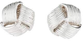 18K Textured Knot Earclip Earrings