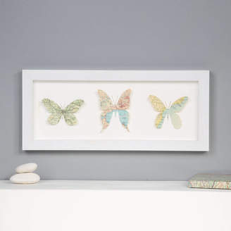 Bombus Personalised Map Location Three Butterflies Wall Art
