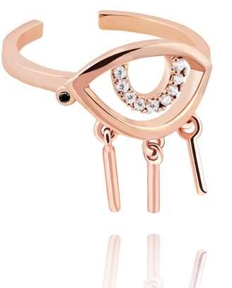Astrid & Miyu - The Evil Eye Ring In Rose Gold