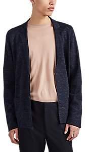 Lanvin Men's Merino Wool-Blend Compact Knit Cardigan - Blue