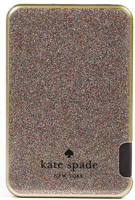 Kate Spade New York Glitter Slim Portable Charger $60 thestylecure.com