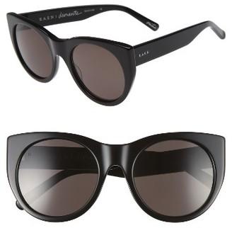 Women's Raen Durante 53Mm Retro Sunglasses - Black $150 thestylecure.com