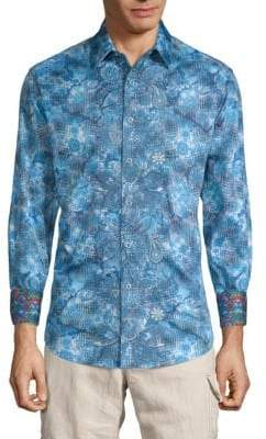 Robert Graham Moulton Printed Cotton Button-Down Shirt