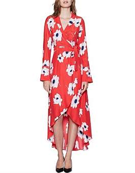 Equipment Gowin Poppy L/S Maxi Dress