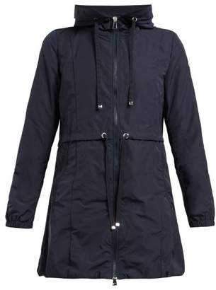 Moncler Topaz Hooded Raincoat - Womens - Navy