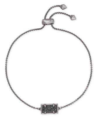 Kendra Scott Phillipa Gunmetal Chain Bracelet in Black Drusy